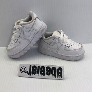 Nike Air Force 1 (TD) 314194-117 (Sz 5C) White